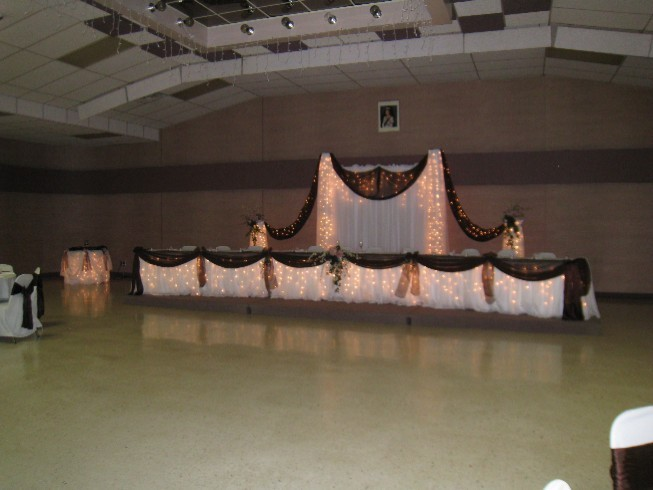 Wedding Setup John Pressenger Hall Head Table Setup